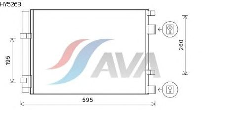 Радиатор кондиционера AVA QUALITY COOLING HY5268