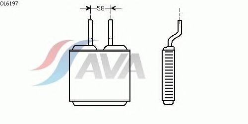 Радиатор отопителя AVA QUALITY COOLING OL6197