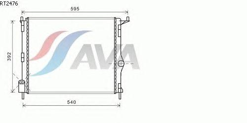 Радиатор, охлаждение двигателя AVA QUALITY COOLING RT2476