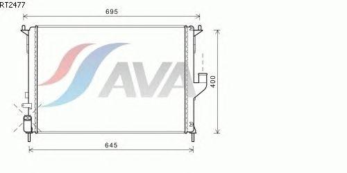 Радиатор, охлаждение двигателя AVA QUALITY COOLING RT2477