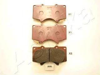 Тормозные колодки ASHIKA 50-02-205
