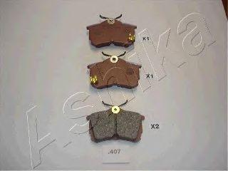 Тормозные колодки ASHIKA 51-04-407