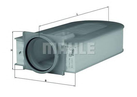 Воздушный фильтр MAHLE ORIGINAL LX 1833