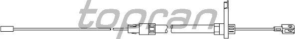 Трос, тормозной механизм рабочей тормозной системы TOPRAN 401 838