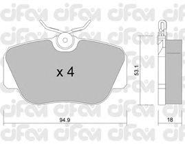 Тормозные колодки CIFAM 822-041-0