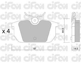 Тормозные колодки CIFAM 822-064-0