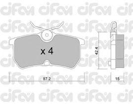 Тормозные колодки CIFAM 822-317-0