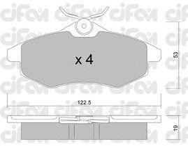 Тормозные колодки CIFAM 822-328-0