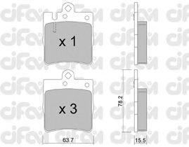 Тормозные колодки CIFAM 822-344-0