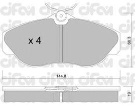 Тормозные колодки CIFAM 822-350-0