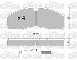 Тормозные колодки CIFAM 822-578-0