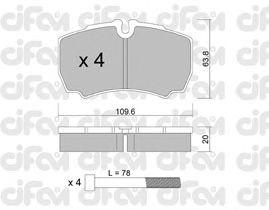Тормозные колодки CIFAM 822-604-0