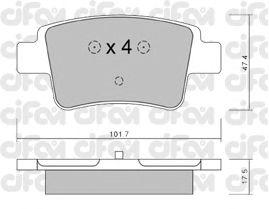 Тормозные колодки CIFAM 822-705-0