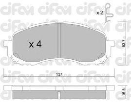Тормозные колодки CIFAM 822-762-0