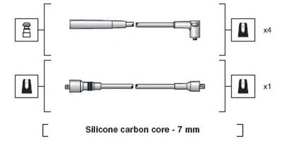 Комплект высоковольтных проводов MAGNETI MARELLI 941318111126