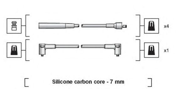 Комплект высоковольтных проводов MAGNETI MARELLI 941318111251