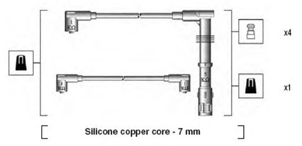 Комплект высоковольтных проводов MAGNETI MARELLI 941175150756