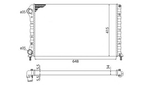Радиатор, охлаждение двигателя MAGNETI MARELLI 350213178003