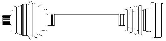 Приводной вал METELLI 17-1064