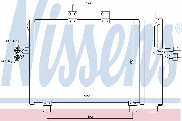 Радиатор кондиционера NISSENS 940017