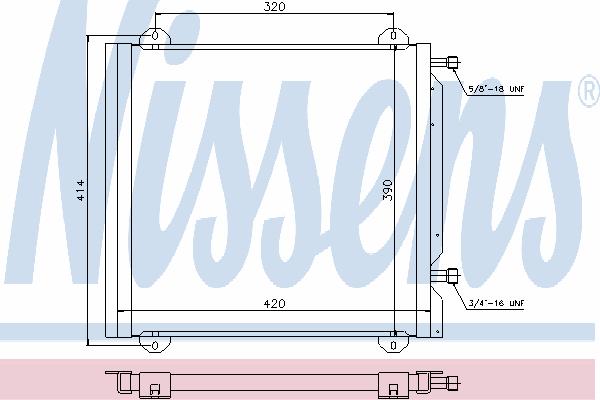 Радиатор кондиционера NISSENS 940026