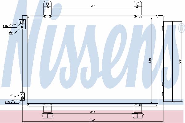 Радиатор кондиционера NISSENS 940079