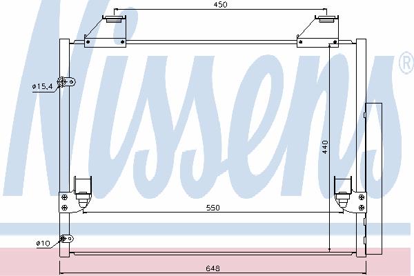 Радиатор кондиционера NISSENS 940083