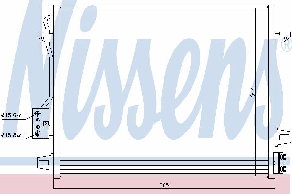 Радиатор кондиционера NISSENS 940098