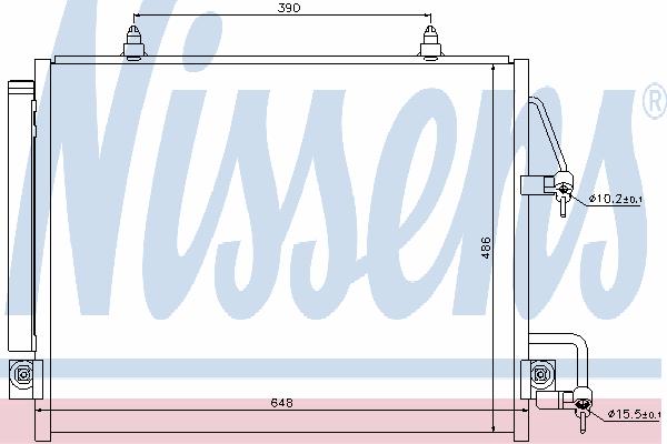 Радиатор кондиционера NISSENS 940166