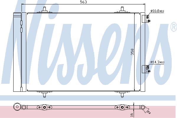 Радиатор кондиционера NISSENS 940189
