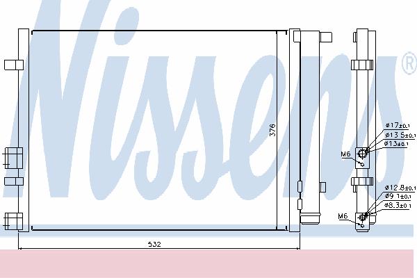 Радиатор кондиционера NISSENS 940221