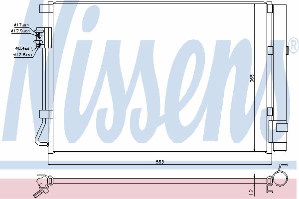 Радиатор кондиционера NISSENS 940248