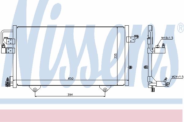 Радиатор кондиционера NISSENS 94209