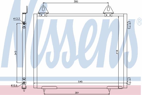 Радиатор кондиционера NISSENS 94327