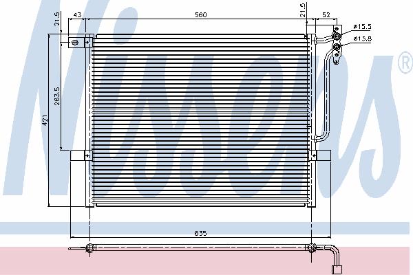 Радиатор кондиционера NISSENS 94431