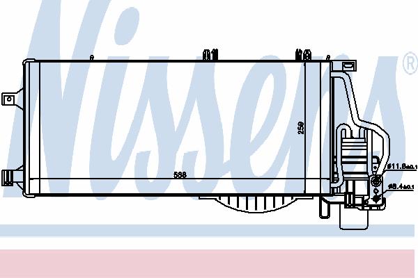 Радиатор кондиционера NISSENS 94722