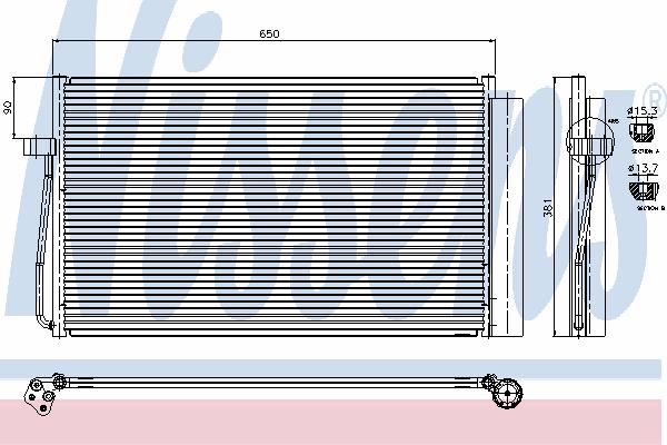 Радиатор кондиционера NISSENS 94747