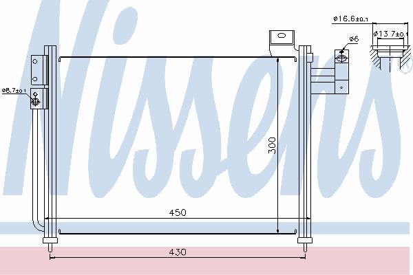 Радиатор кондиционера NISSENS 94766