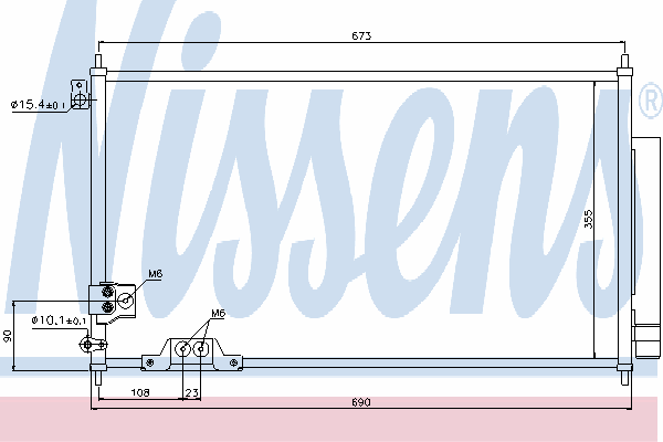 Радиатор кондиционера NISSENS 94788