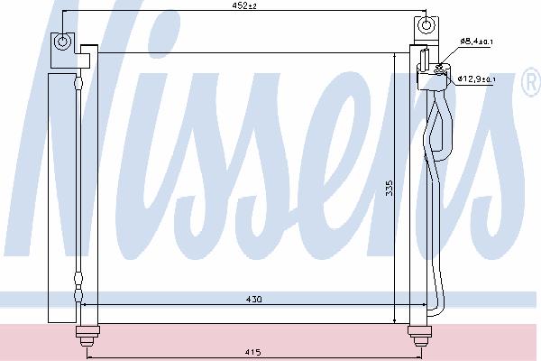 Радиатор кондиционера NISSENS 94828