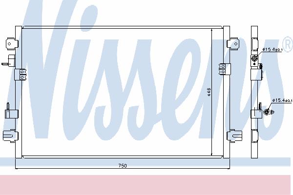 Радиатор кондиционера NISSENS 94906