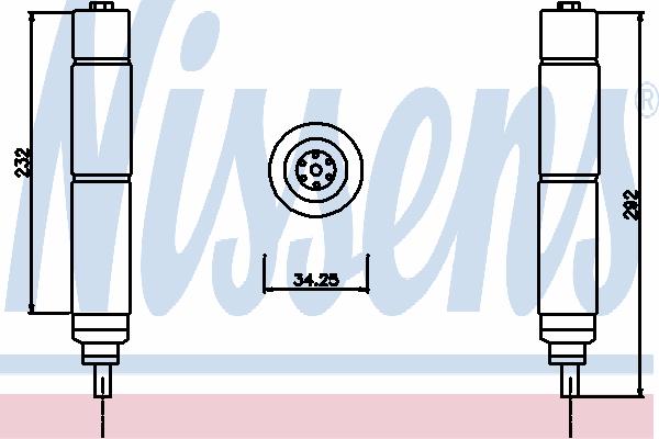 Осушитель кондиционера NISSENS 95336