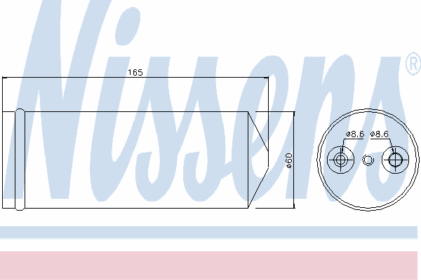 Осушитель кондиционера NISSENS 95437