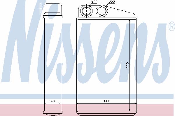 Радиатор отопителя NISSENS 73249