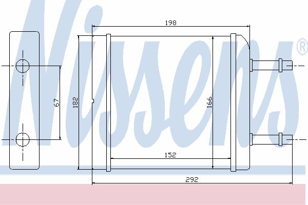 Радиатор отопителя NISSENS 76506