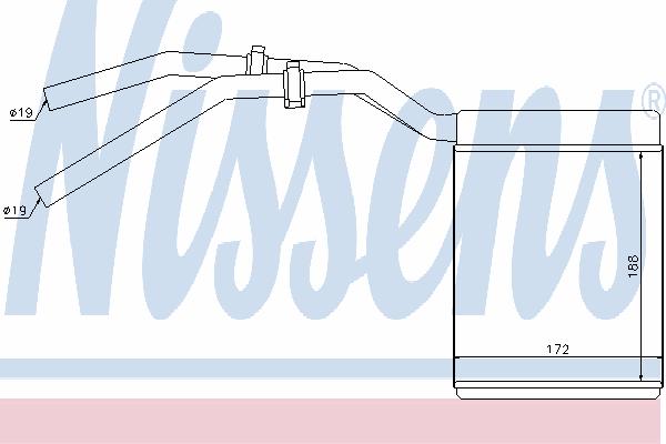 Радиатор отопителя NISSENS 71770
