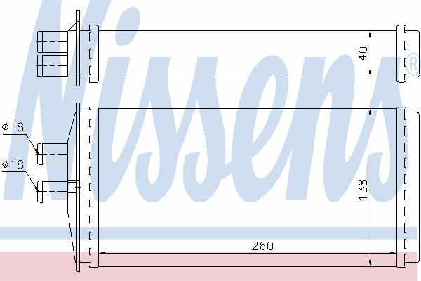 Радиатор отопителя NISSENS 73655