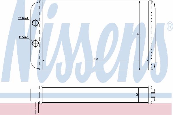 Радиатор отопителя NISSENS 73986