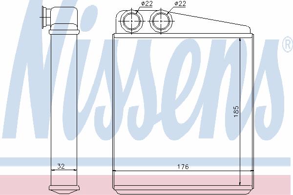 Радиатор отопителя NISSENS 70228