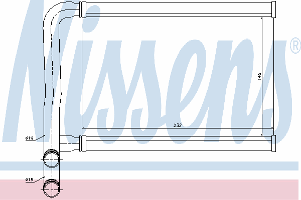 Радиатор отопителя NISSENS 77631